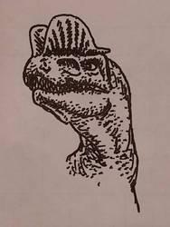 Dilophosaurus Portrait