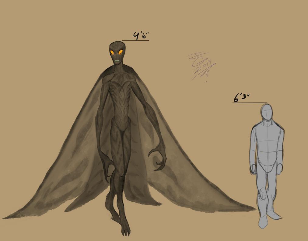 Moth-man size comparison by JTCreepyface8743