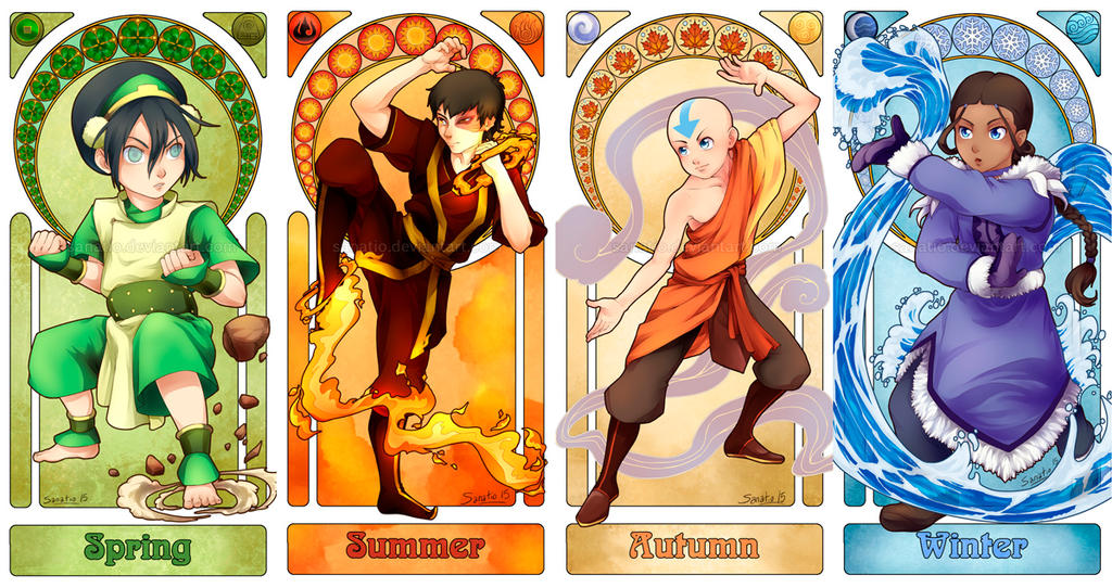 Avatar Art Nouveau - The Four Seasons