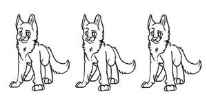 Dog Line-art by Skullz-adopts