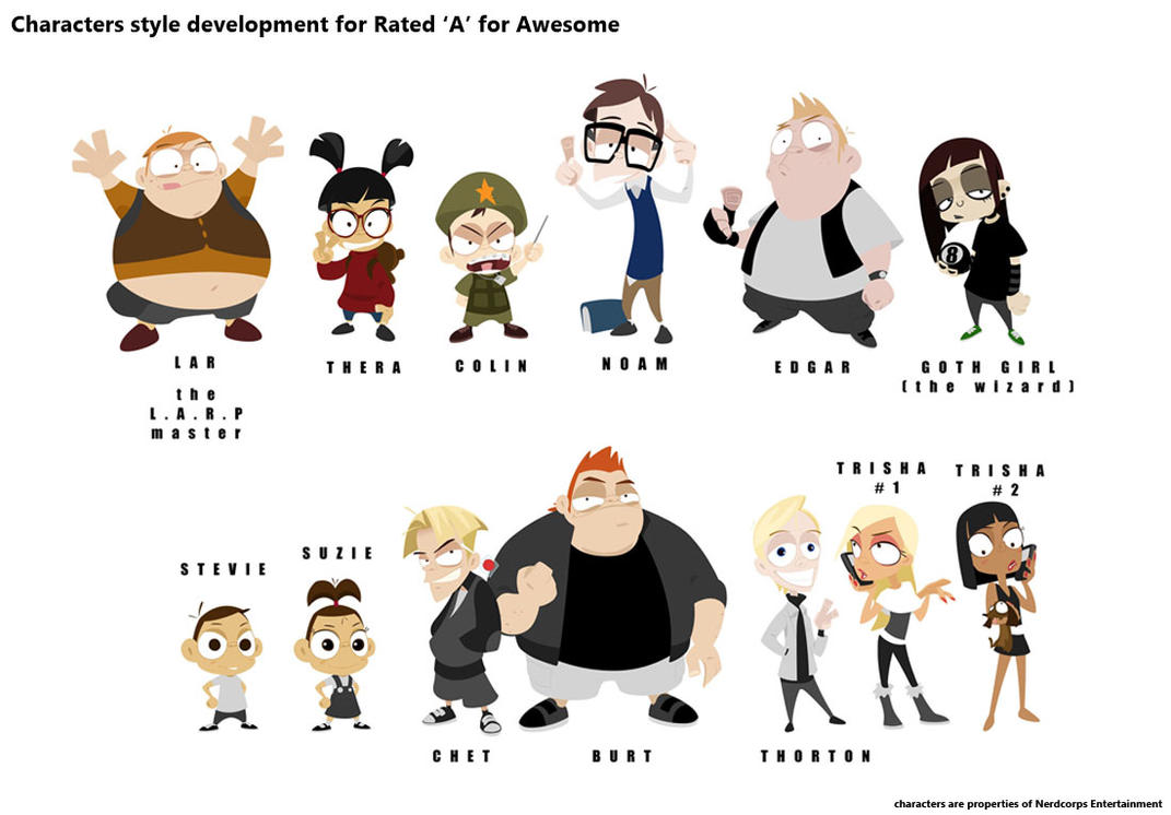 Character Design Styles Pdf : Character style study for rated a awesome by