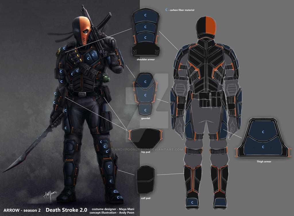 Arrow season2 deathstroke backview and breakdown by for Deathstroke armor template