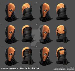 Arrow Season2 DeathStroke2 Helmet development