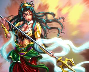 Goddess Durga concept by xong