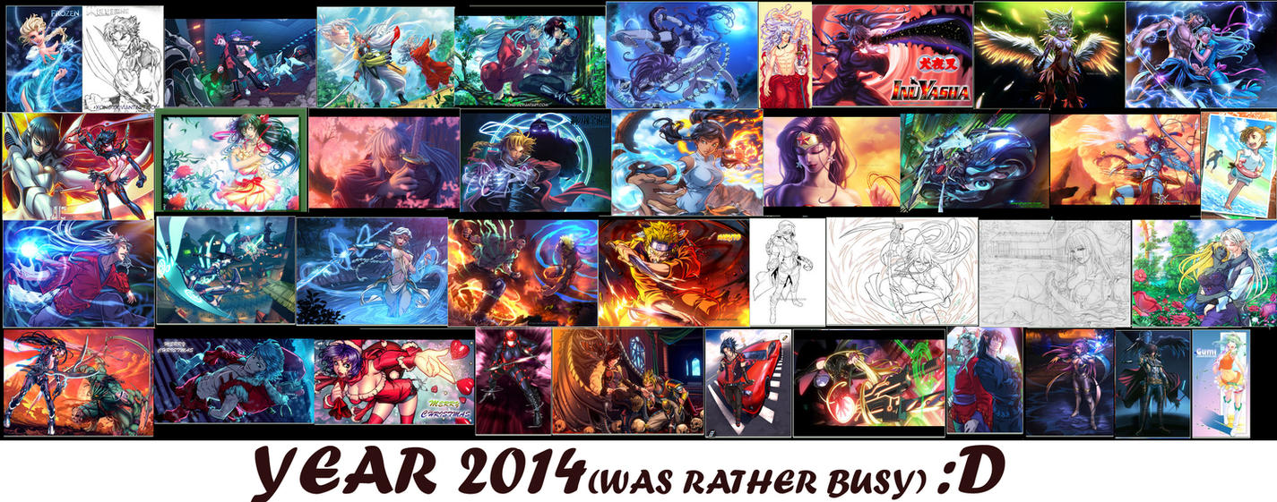 2014 some of the drawings we really enjoyed doing by xong