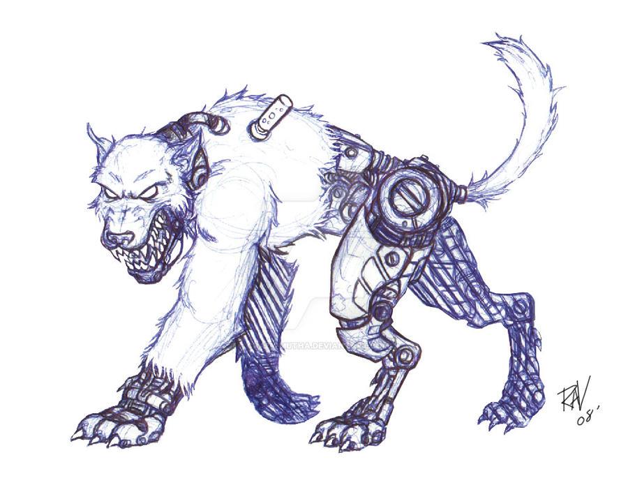 Deviantart Robot Animals: Robotic Ghost Rabid Dog By Crazy-Mutha On DeviantArt