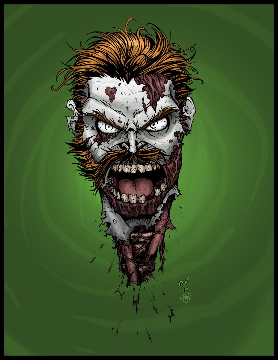 Irish Zombie Head by Crazy-Mutha