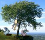 Pokemon in a tree