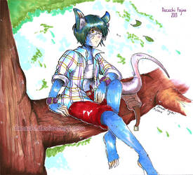 Commision: Maus in the tree by Dacachi