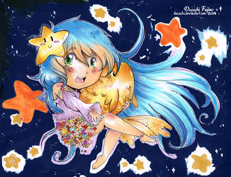 Stars and a fish plushie by Dacachi