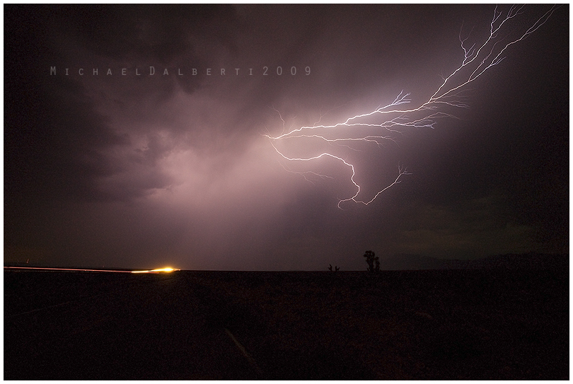 Mojave Lightning by michael-dalberti