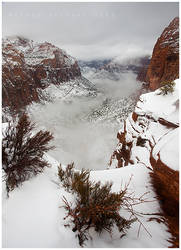 Zion in December by michael-dalberti