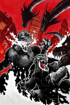 Godzilla and Gamera vs King Ghidorah