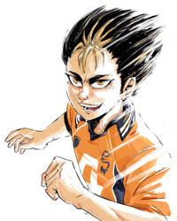 Nishinoya from Haikyuu sketch