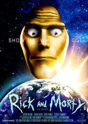 Rick and Morty Movie Poster by tony-revdoog