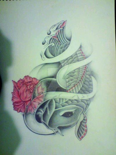Japanese Koi Tattoo Sketch By Brokenart Uk On Deviantart
