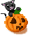 Pumpkin Cat Halloween Icon