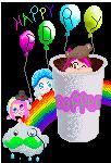 Happy Birthday PsychoticUnicorn! by kayleero