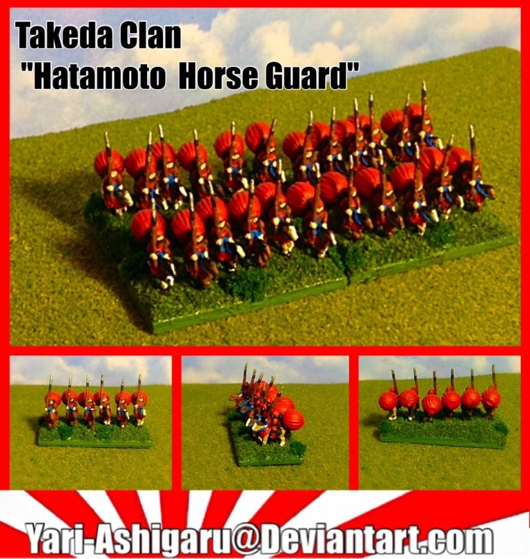 Takeda Clan Hatamoto Horse Guard By Yari-Ashigaru On