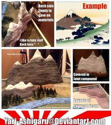 Large 6mm Scale Miniature Mountain by Yari-Ashigaru