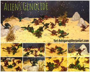 Aliens Genocide Diorama by Yari-Ashigaru