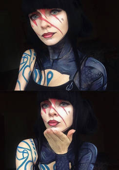 Maya ( Borderlands 2 ) makeup cosplay (other skin)