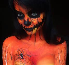 Halloween makeup by IraNyaaasha