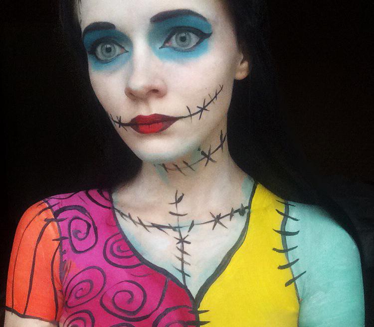 Nightmare before Christmas - Sally makeup by IraNyaaasha on DeviantArt