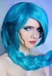 Cosmic Dusk Xayah makeup - League of Legends by IraNyaaasha