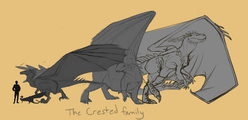 Dragons of Tarth: the Crested Family by Cinnabonyx