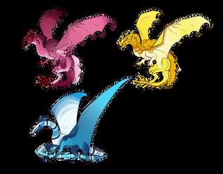 Dragon Adopts for sale! by Cinnabonyx