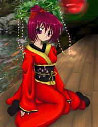 Koi Blossom Kimono by deegarr