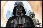 ESB Vader Fett Sketch Card