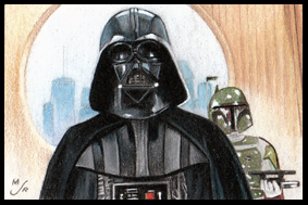 ESB Vader Fett Sketch Card by MJasonReed