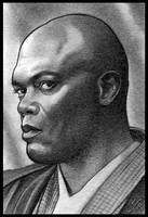 Clones Windu Sketch Card by MJasonReed