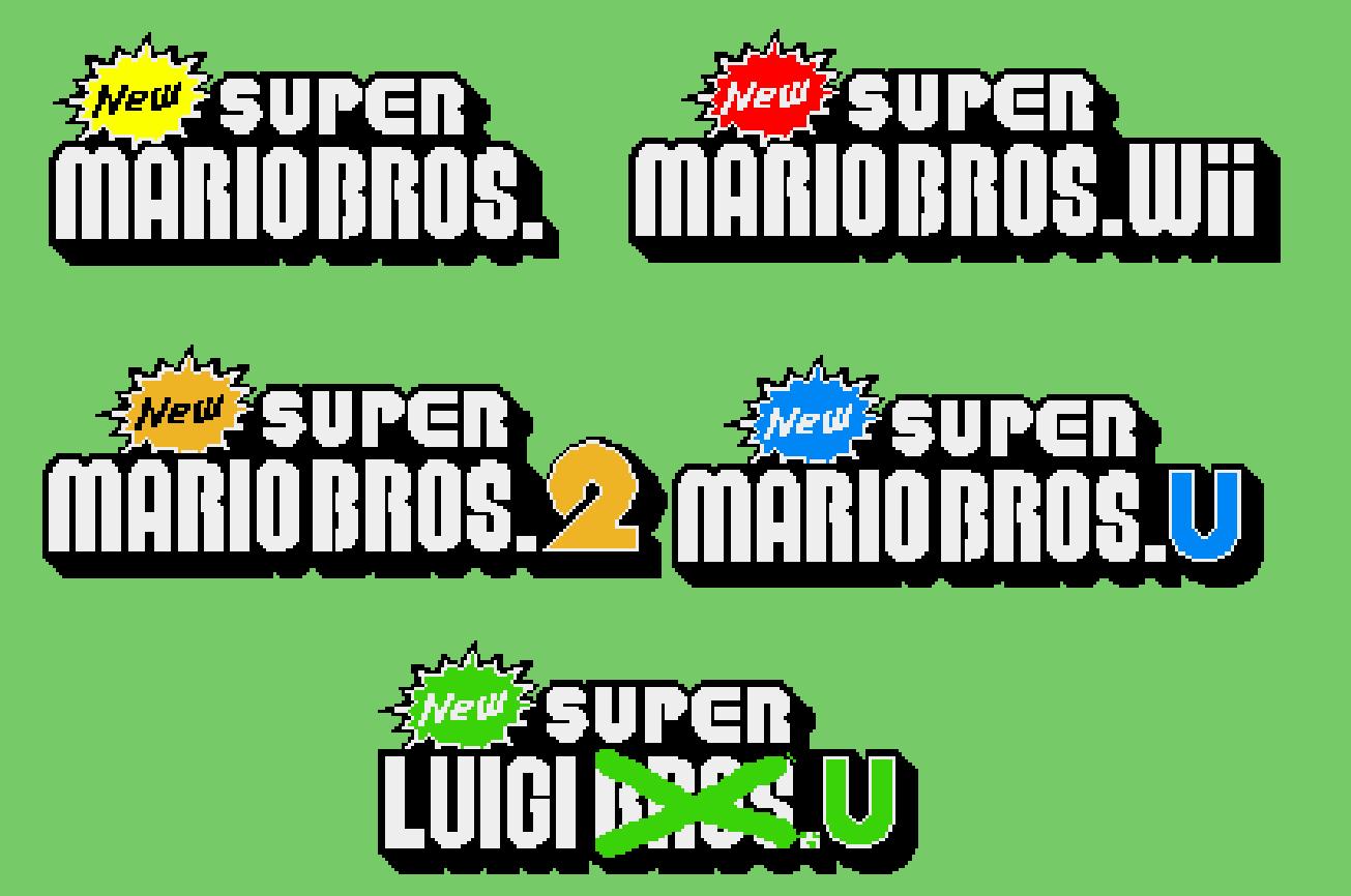 New Super Mario Bros Series Logos By Mazecube24 On Deviantart