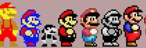 Mario Pixel Sprites (1981-1993)