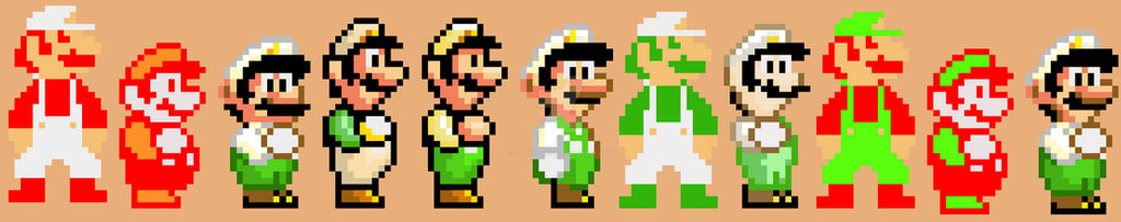 Fire Luigi Pixel History 1985 2019 By Mazecube24 On Deviantart