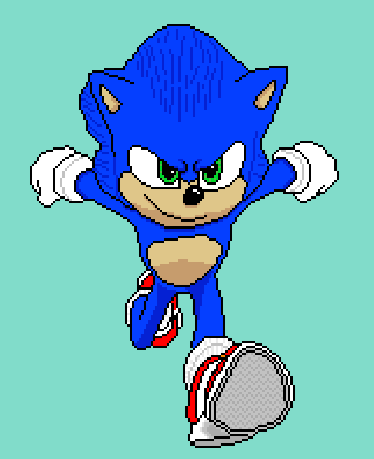 Sonic The Hedgehog Movie Pixel By Mazecube24 On Deviantart