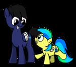~ToasteezTheBrony OC - Brightspark and Aurora