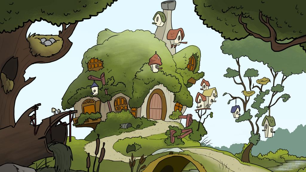 Bittersweet 22 - Fluttershy's House by petirep on DeviantArt