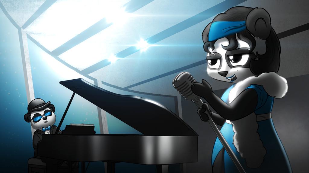 Funky Panda youtube art - March 2015 by petirep