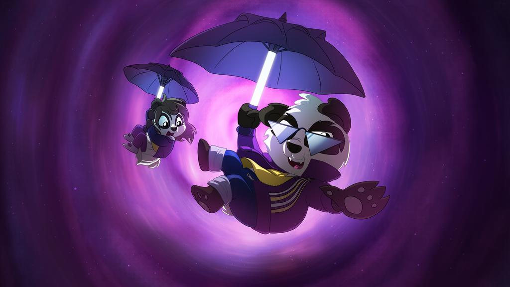 Funky Panda youtube art - September 2015 by petirep