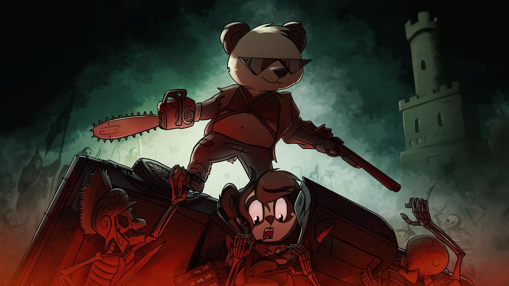 Funky Panda youtube art - October 2015 by petirep