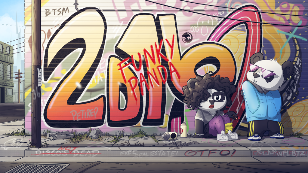 Funky Panda youtube art - January 2016 by petirep