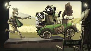 Funky Panda youtube art - March 2016