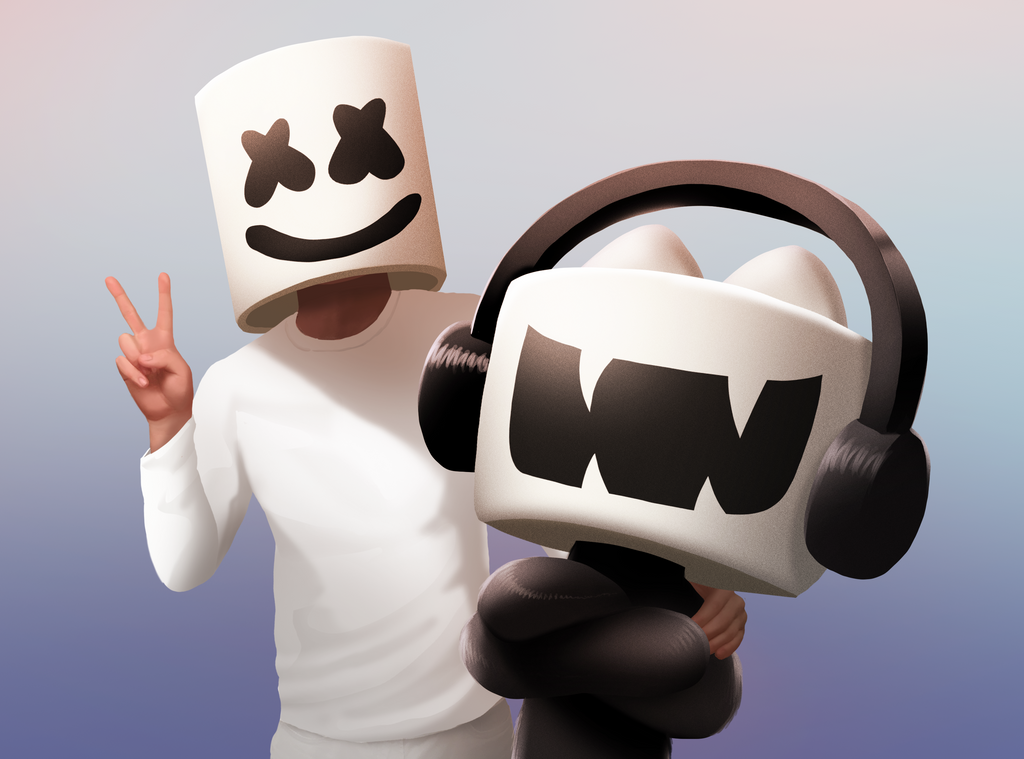 Marshmello - Monstercat Promo Art by petirep