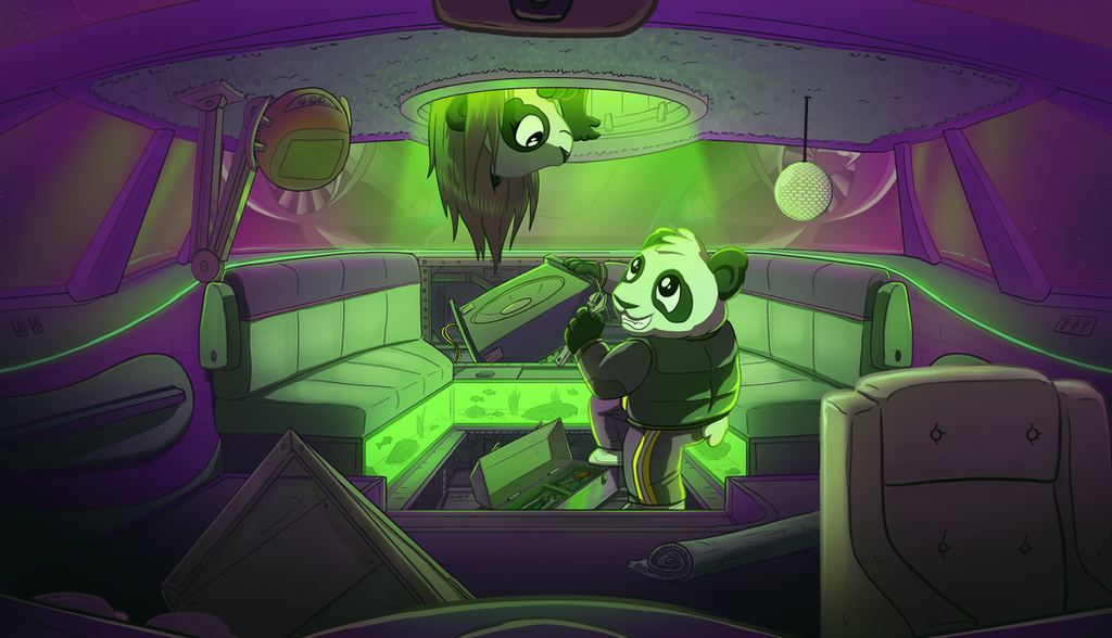Funky Panda Youtube Art - August 2017 by petirep