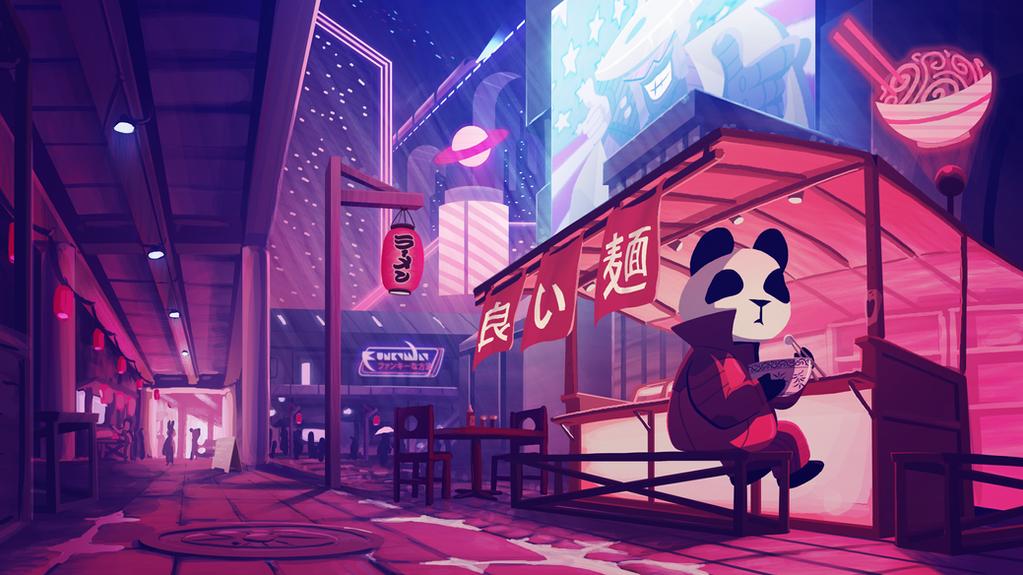 Funky Panda YouTube Art - May 2018 by petirep