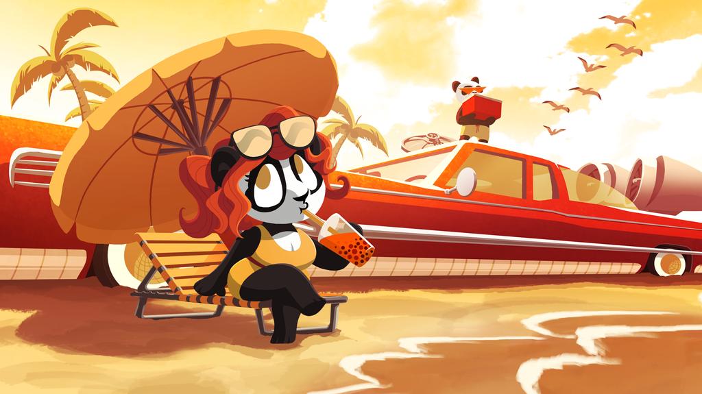 Funky Panda YouTube Art - June 2018 by petirep